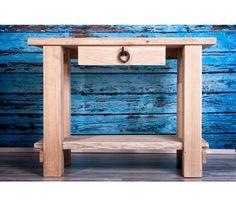 Ironwood - Rusztikus, vas elemmel díszített tölgyfáből készült asztal natúr színben. Robosztus, időtálló.