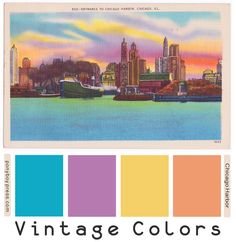 Ponyboy Press - zine maker, design lover, dedicated homebody: Search results for color palette Vintage Colour Palette, Colour Pallette, Vintage Colors, Colour Schemes, Color Combos, Wall Paint Colors, Sunset Colors, Color Balance, Shabby