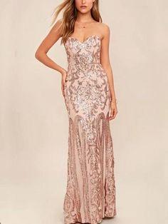 e3f11a8d 7 Best Rose gold gown images   Elegant dresses, Party fashion, Long ...