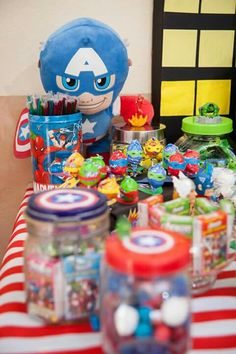 Avengers sweets table