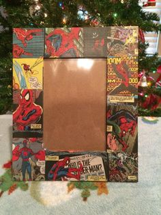 A sample of what will be on site at #EtsyFest15 on Saturday, April 25 in Hillcrest! @Etsy #etsy #etsylr #handmade #shoplocal #livelocal Spider-man Comic Book Picture Frames by D2comicsandmore on Etsy