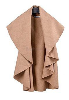 Enlishop Casual Irregular Cutting Sleeveless Woman Wool Coat Jackets M Apricot Enlishop http://www.amazon.com/dp/B00YA0JUWK/ref=cm_sw_r_pi_dp_39m-vb10T5ABW