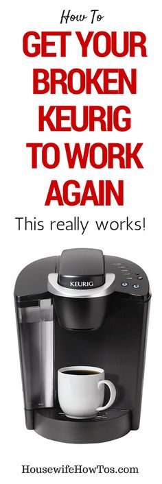 These easy steps got my Keurig working like new again even though I thought it was broken! Cleaning Recipes, House Cleaning Tips, Diy Cleaning Products, Cleaning Solutions, Deep Cleaning, Keurig Cleaning, Keurig Recipes, Bathroom Cleaning Hacks, Glass Cooktop