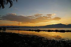 Der Phayao-See bei Sonnenuntergang