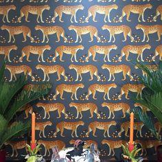A leopard can change it's spots #theworldofinteriors #wallcoverings #wallpaper #interiordesign #decor #homedecor #interiordesign #luxurydesign #coleandsonwallpaper