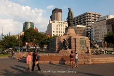 Statue of Paul Kruger on Church Square, Pretoria, South Africa