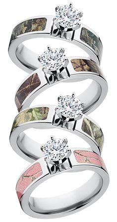 I want a Realtree Camo Engagement Ring.  #realtree #camoengagementrings #camoweddingrings #camoweddings #usamade #thebestringaround
