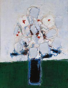 Nicolas de Stael - Fleurs dans un Vase Bleu (1953)
