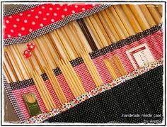 Knitting - Angela's Expressions Needle Case, Knitting Needles, Cases, Crochet, Handmade, Hand Made, Chrochet, Craft, Crocheting