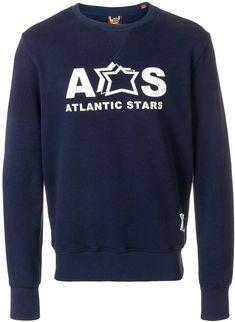 02ede12aa0 Atlantic Stars logo print sweatshirt #logo#cotton#Blue Star Logo, Printed  Sweatshirts