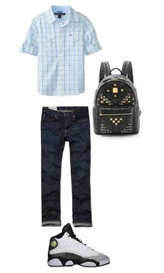 """""""Brayden; went to work with daddy today"""" by mackenzieandsierra on Polyvore featuring Tommy Hilfiger and MCM"""