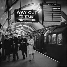 Piccadilly Circus Underground Station 1960-1965  John Gay
