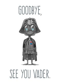 See You Vader Farewell Card by KubatCartoons on Etsy