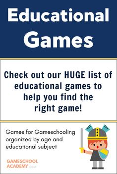 Huge List of Educational Games! FREE! See it here! #gameschooling #gameschool #gameschoolacademy #homeschoolgameschool #games #game #tabletopgame #tabletop #boardgame #boardgames #gamer #gamergirl #gamenight #familygamenight #familygame #familygames #educationalgames #playtolearn Kids Activities At Home, Games To Play With Kids, Board Games For Kids, Kids Fun, Kindergarten Homeschool Curriculum, Homeschool High School, Homeschooling Resources, Family Game Night, Family Games