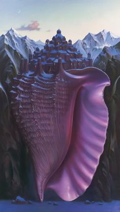 Vladimir Kush - Above Sea Level Students draw a shell from observation, then turn that shell into some kind of building.