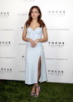 Olivia Cooke Evening Sandals - Olivia Cook teamed her sexy dress with elegant blue velvet sandals.