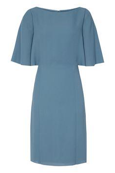 Reiss Mist Fluted Sleeve Dress, $330; reiss.com