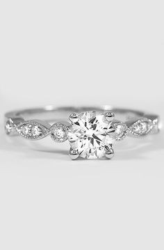 Vintage Diamond Engagement Ring | Tiara. I hardly ever post jewelry but this is so beautiful and elegant!