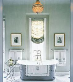 """Farrow & Ball Skylight 205—""""It is a calming and versatile color and mixes with black lacquer wonderfully,"""" says Branca, who describes the hue (shown) as """"a Venetian blue gray"""