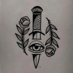 tattoo design available - traditional tattoo drawings Kritzelei Tattoo, Wrist Tattoos, Body Art Tattoos, Sleeve Tattoos, Tattoo Neck, Band Tattoo, Sword Tattoo, Snake Tattoo, Mandala Tattoo