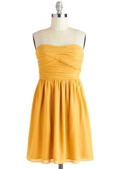 Yellow Brick Goldenrod Dress