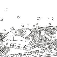 Instagram media daria486 - #Fairy on a #MagicCarpet ride ⭐️⭐️ #coloringbook  #TheTimeGarden second edition #TheTimeChamber #comingsoon  #Arttherapy #antistress #coloring #hobby #bestseller #sleep #cry #drawing #sketch #illust #시간의방 커밍쑨 #컬러링북 #시간의정원 #도안 #그리기 #손그림 #일러스트 #스케치 #요정 #소녀 #안티스트레스 #아트테라피 #색칠공부 #색칠놀이 ✨