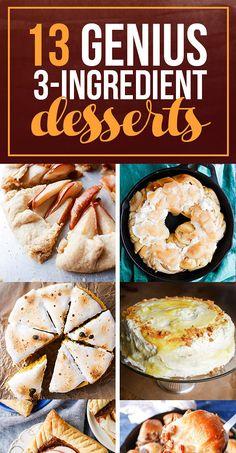13 Genius Three-Ingredient Desserts To Make For Thanksgiving