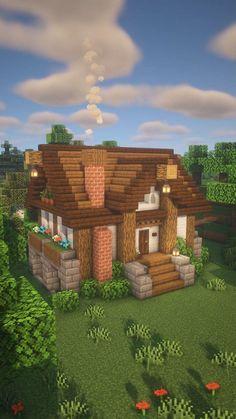 Minecraft   Forest Cottage Timelapse