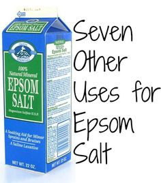 √√~ Seven Other Uses for Epsom Salt | Budget Savvy Diva ~√√           #epsomsalts #fertilizer.  #cleaners