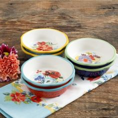 The Pioneer Woman Spring 5-Inch Mini Pie Plates, Set of 6