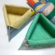 Free Sewing Pattern Folds Up Mini Thread Catcher