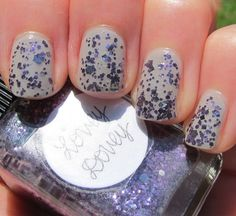 two coats of Zoya Dove topped with two coats of Lynnderella Lovey Dovey