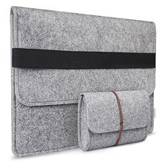 Inateck Inch MacBook Air/ MacBook Pro Retina Case Sleeve Cover Carrying Case Protective Bag with Pocket and Pouch, Compatible with Most Ultrabook Netbook Laptop - Gray Macbook Pro Retina, Apple Macbook Pro, Macbook Air Sleeve, Ipad Sleeve, Mac Book, Ipad Pro, Felt Case, Computer Sleeve, Tablet