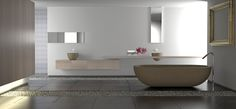 Find Minimalist White Bathroom Stone Bathtub Pebbles stock images in HD and millions of other royalty-free stock photos, illustrations and vectors in the Shutterstock collection. Modern Bathroom Renovations, Gray And White Bathroom, Custom Bathroom, Minimalist Bathroom Design, Master Bathroom Design, Bathroom Renovations, White Bathroom, Luxury Bathroom, Bathroom Design