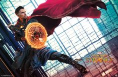 Check out the latest promo art for Marvel's upcoming Doctor Strange, featuring Benedict Cumberbatch and Chiwetel Ejiofor. Marvel Doctor Strange, Doctor Strange Cloak, Doc Strange, Strange Art, Comic Book Characters, Marvel Characters, Marvel Heroes, Marvel Movies, Marvel Dc