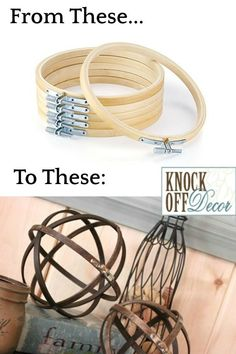 New wood lamp diy pottery barn 47 ideas Chandelier Makeover, Diy Chandelier, Wire Basket Chandelier, Upcycled Crafts, Knock Off Decor, Solar Light Crafts, Deco Luminaire, Pottery Barn Inspired, Home And Deco