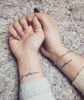 80 Sister Tattoos That Will Melt Your Friggin' Heart - Page 8 of 8 - Straight Bl. - 80 Sister Tattoos That Will Melt Your Friggin' Heart – Page 8 of 8 – Straight Blasted 80 Sis - Baby Tattoo Designs, Sister Tattoo Designs, Couples Tattoo Designs, Tattoo Couples, Tattoos Realistic, Small Tattoos, Neck Tattoos, Professional Tattoo Kits, Skull Tatto