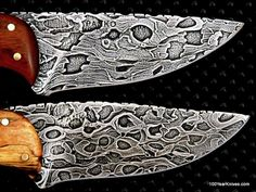 Damascus Steel,  the Damascus Steel was made from Chainsaw Blades.