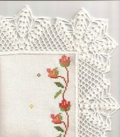 Photo by Hasan ali Topcu Filet Crochet, C2c Crochet, Crochet Borders, Yarn Crafts, Diy And Crafts, Crochet Designs, Crochet Patterns, Crochet Simple, Crochet Blouse