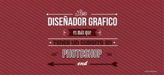 """Lo que Pienso """" be a graphic designer is more than having a course in Photoshop"""" // #Typography #Calligraphy #Desing"""