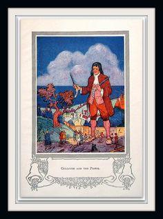 Gulliver's Travels Gulliver and His Pistol by mysunshinevintage