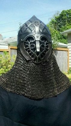 Persian helmet steel and leather Viking Armor, Medieval Armor, Medieval Fantasy, Character Concept, Character Art, Army List, Armor Clothing, Armadura Medieval, Leather Armor