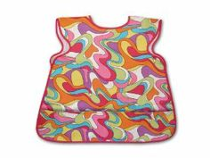 Children's Smock Multi-swirl - .... $11.95. Toddler/Pre-School/K Size. Art - Cooking - Creative Play. Two ties in back - Pockets on front. 100% Heavy Duty Cotton. Kids are naturally creative and eager to help. Make your cooking and art times extra special with these adorable aprons. Kids will enjoy the front posckets to store their tools and treasures, while mom and dad will enjoy the extra protection for little ones clothes.