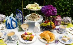 High Tea table for a private high tea for two, www.bluemountinai..., Blue Mountains Australia. Aussie High Tea.
