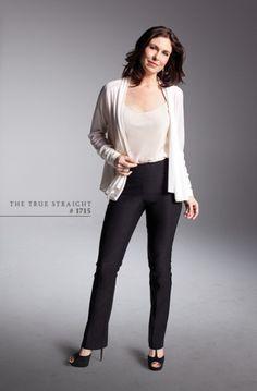 Lisette L Pants - The True Straight #1715   #shapers #slimwear #spanx  http://lisette-l.com/essencials/