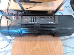 PANASONIC RX-FT600 classic radio cassette player combined with graphic equalizer and with double cassette deck for recording use