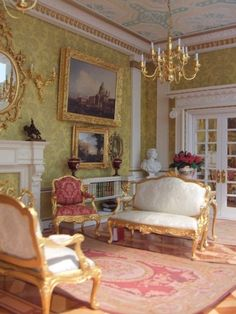 25 Amazing Renaissance Living Room Ideas To Inspire You Miniature Rooms, Georgian Interiors, Georgian Homes, Home Living Room, Interior Design Living Room, Drawing Room, Dollhouse Furniture, House Rooms, Victorian Interiors