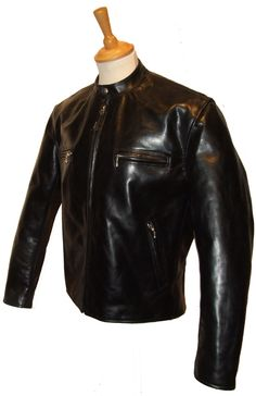 This is THE Cafe Racer Heavy Steerhide Leather Jacket - Aero Leathers, UK