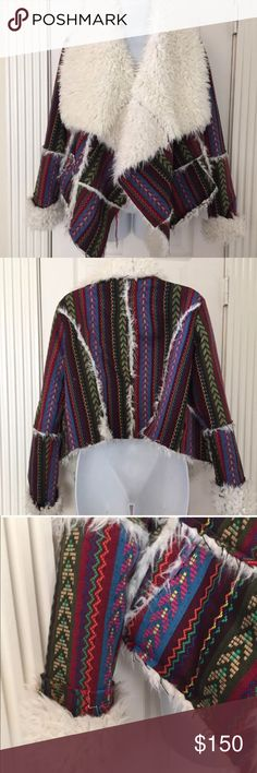 UNIF Lora Aztec Wrap Jacket In excellent condition, worn twice! Very hard to find beautiful jacket! UNIF Jackets & Coats