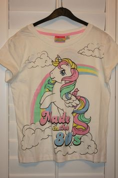 Primark MY LITTLE PONY MADE IN THE 80'S T Shirt Retro Tee Pyjamas Top 6-20